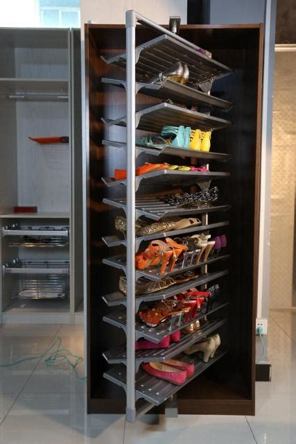 revolving shoe rack wood rotating shoe storage pdf plans