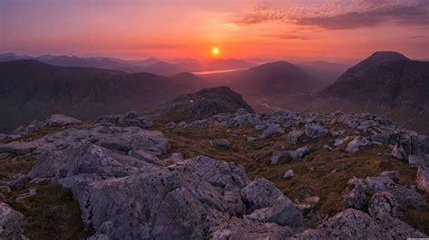 sunrise  west highlands glencoe scotland uhd