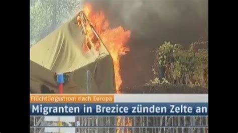 Brennendes Flüchtlingslager In Slowenien Dramatische