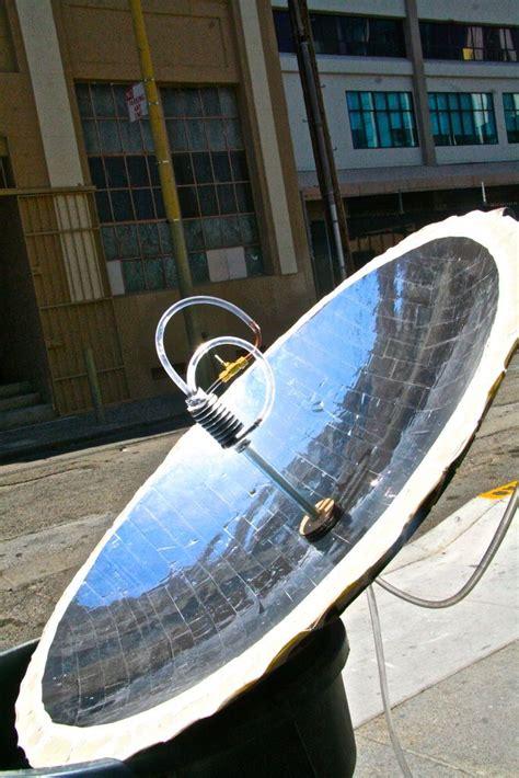 Building Parabolic Solar Hot Water Heater Using