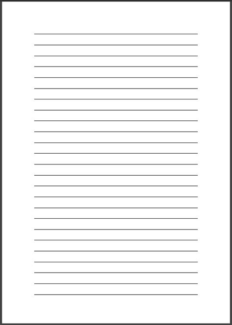 printable pages  lines template business psd excel