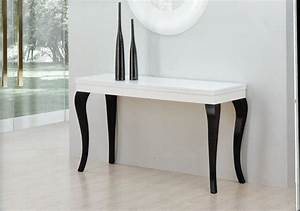 Table Blanc Laqué Extensible Ikea : table console extensible ikea ~ Nature-et-papiers.com Idées de Décoration