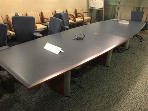 Used Boat Shaped Conference Table - Used Office Furniture