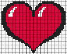 Perler Bead Pattern Hearts