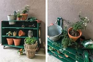 Pflanztisch Aus Paletten Bauen : diy pflanztisch aus aufsatzrahmen und 2 paletten deckeln ~ Eleganceandgraceweddings.com Haus und Dekorationen