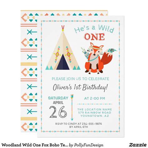 Woodland Wild One Fox Boho Teepee Boy1st Birthday