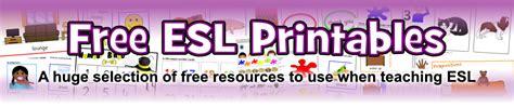 esl printables  primary school sparklebox