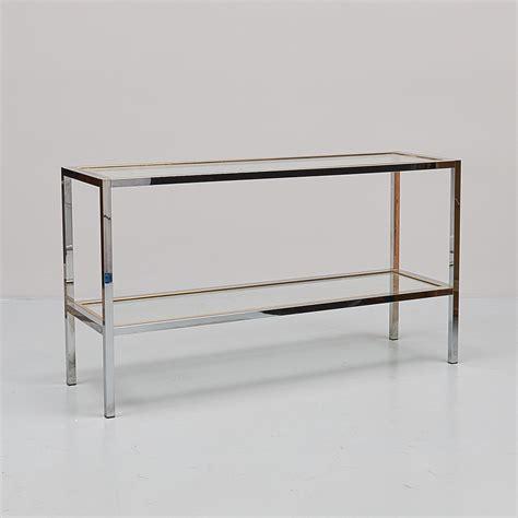 Sideboard Glas Metall by Sideboard Med Hylla Glas Metall L 228 Ngd 125 Cm Djup