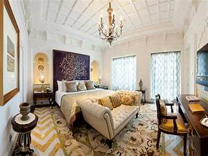 Tour the world39s most luxurious bedrooms hgtv for Kitchen colors with white cabinets with kids world map wall art