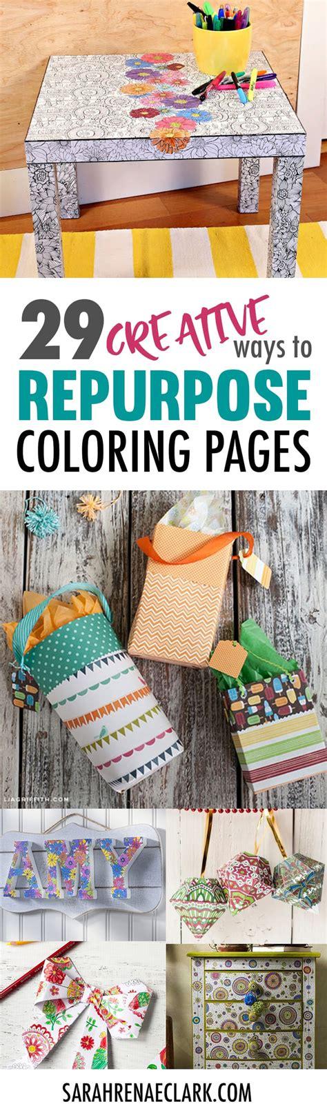 creative ways  repurpose coloring pages sarah renae clark coloring book artist  designer