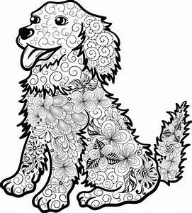 Kostenloses, Ausmalbild, Hund