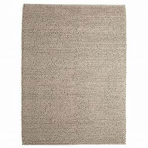 tapis en laine beige 160 x 230 cm industry maisons du monde With tapis laine beige