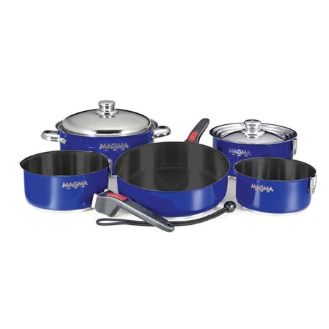 cookware magma teflon stainless steel cobalt nestable piece rv camping non stick compact boat induction living replacement outdoorshopping