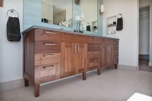 Walnut Vanity - Transitional - Bathroom - denver - by Marc