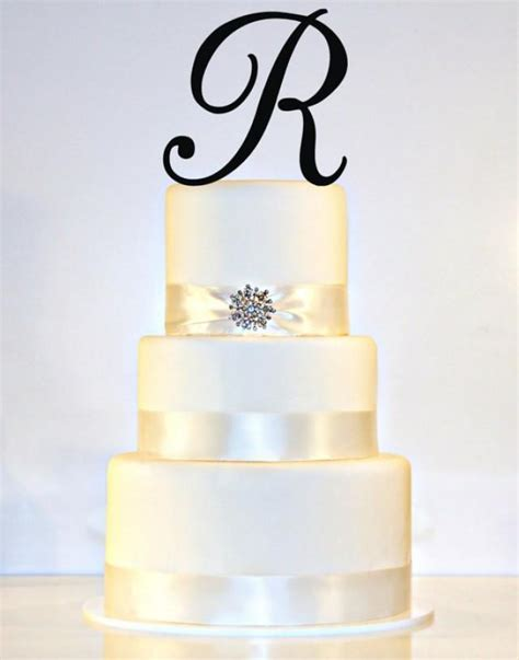quot a quot cake topper 6 quot monogram wedding cake topper in any letter a b c d e f