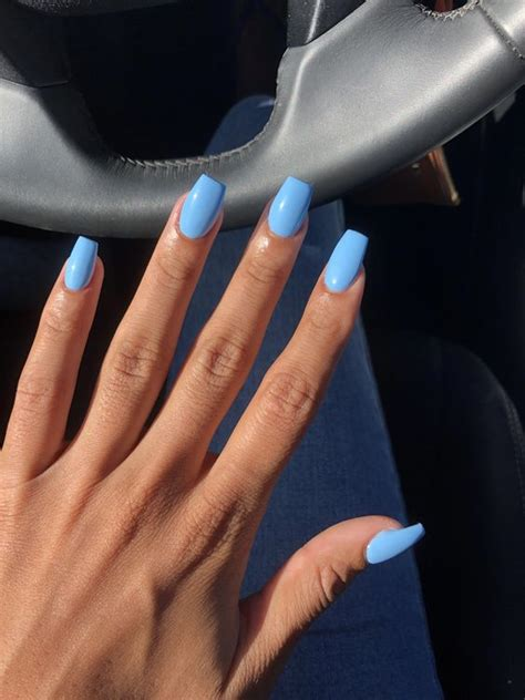 stylish acrylic coffin nail designs  colors