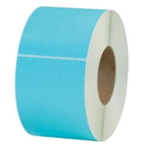 lt blue thermal transfer labels  rolls