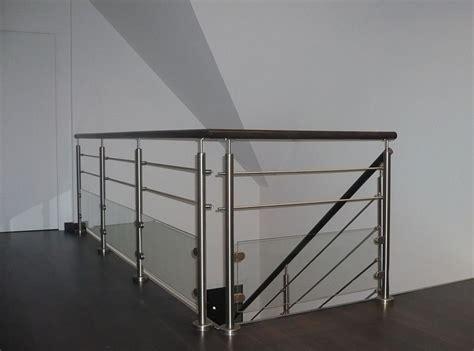 re d escalier inox garde corps inox verre barre inox