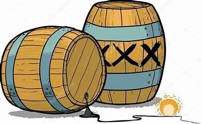 Barrel Cartoon Powder Gun Gunpowder Illustration Clipart