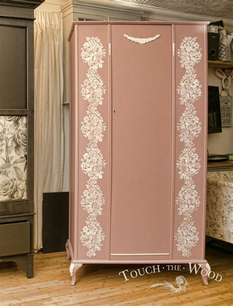 shabby chic furniture stencils shabby chic wardrobe with stencil no 04 touch the wood