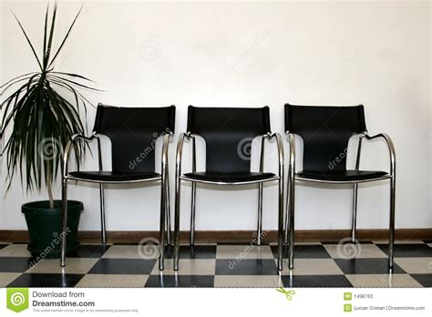 chairs waiting room stock image image  polished rest