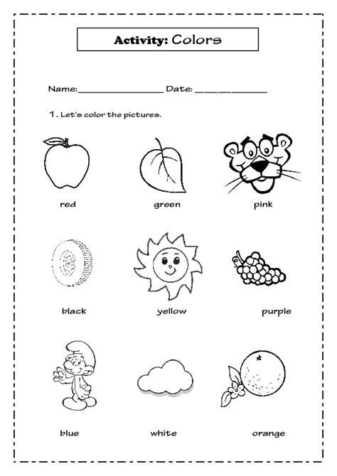 colors  kindergarten