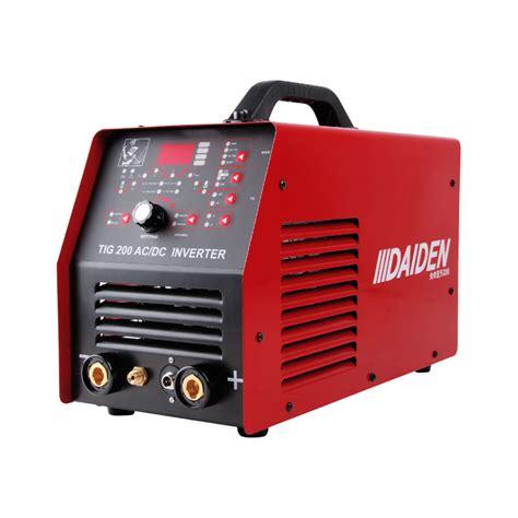 daiden welding inverter machine mesin las tig 200 ac dc pulse niagamas lestari gemilang