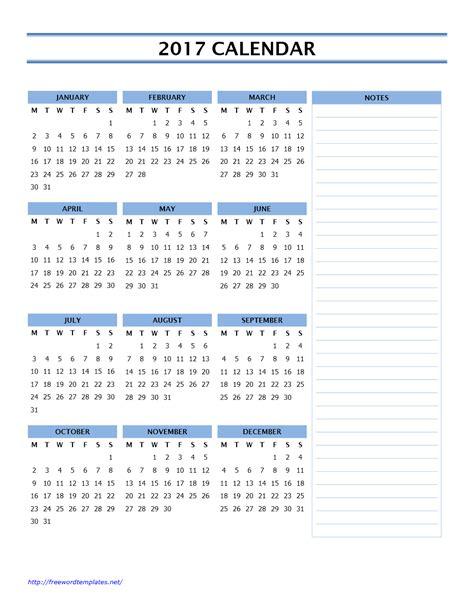 18 Month Calendar Template by 12 Month Calendar Template 2017 2018 Calendar Printable