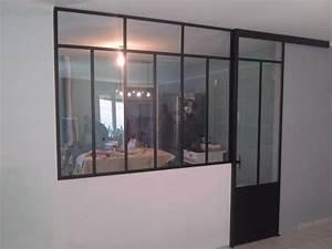 separation en verre cuisine salon 3 cuisine salon porte With separation en verre cuisine salon