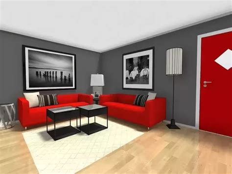 Wohnzimmer Grau Rot by What Color Wood Flooring Goes Best With A Grey Living