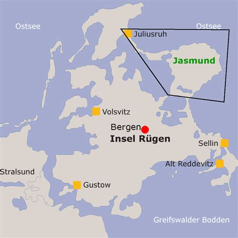 Rügen Kreidefelsen Karte