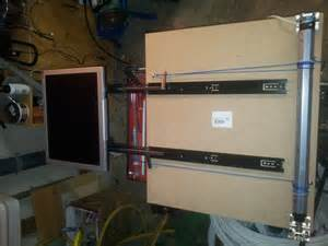 Fabriquer Un Bureau Informatique by Ecran Tv Escamotable