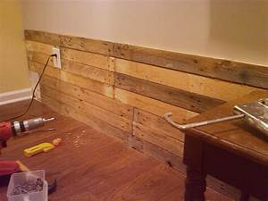 diy scrap pallet plank wall poppytalk With cheap wood planks for walls