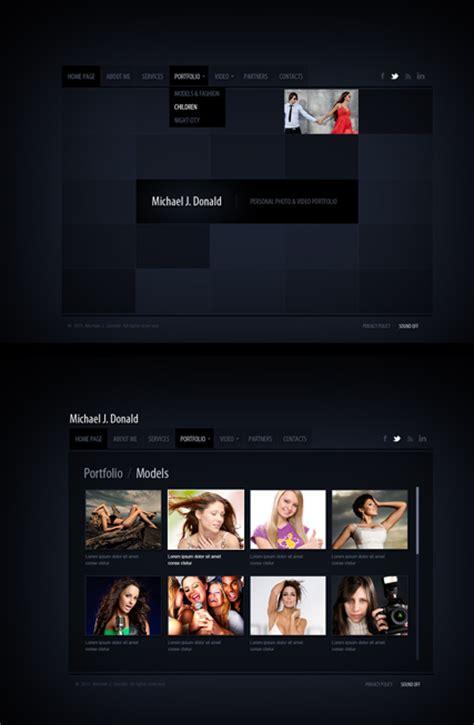 Black Folio Html5 Gallery Website Template Best Website