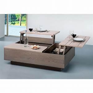 Table Basse Multifonction : table basse modulable maison design ~ Premium-room.com Idées de Décoration