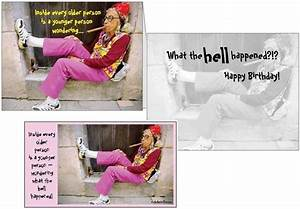 Funny Birthday Card Old Woman Smoking Cigar Magnet ...