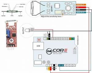 Wiring Reed Switch Module With Arduino Microcontroller