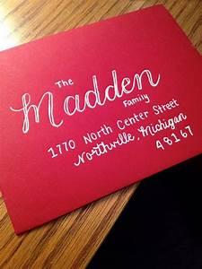 hand lettered christmas addressed envelopes madden style With hand lettered envelopes