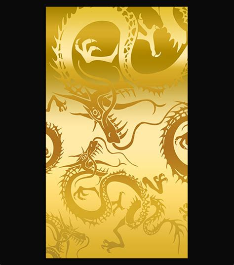 Golden Dragon Hd Wallpaper For Your Mobile Phone