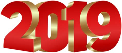 2019 Red Gold Png Clip Art