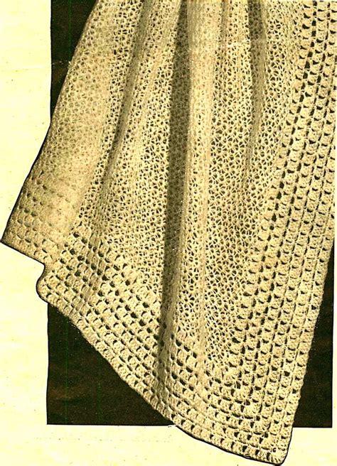 vintage crochet pattern sweet lace heirloom baby shawl