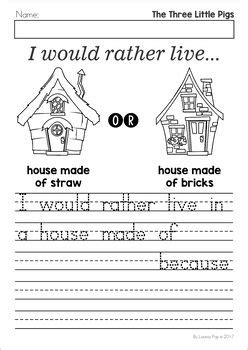 The Three Little Pigs Worksheets and Activities Three