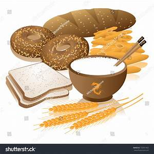 Bread clipart food group - Pencil and in color bread ...