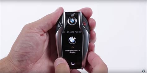 bmw  series display key functions showcased video