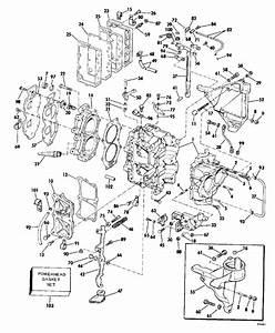 Evinrude Cylinder  U0026 Crankcase Parts For 1979 35hp 35952a