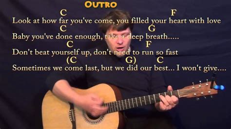 Try Everything (shakira) Strum Guitar Cover Lesson In C With Chords/lyrics