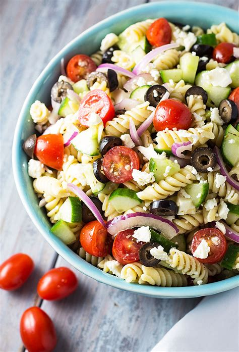 easy pasta salad ideas greek pasta salad the blond cook