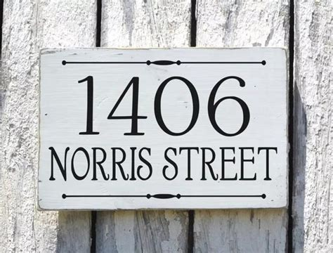 original house number signs  personalize facade