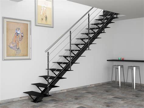 escalier 224 limon vintage steel escaliers l echelle
