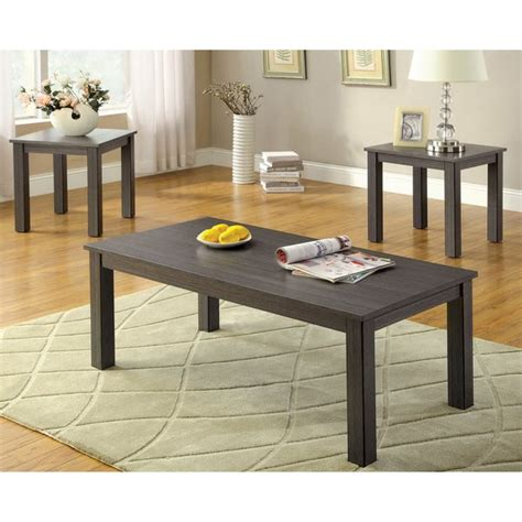   skip to page navigation. Shop Furniture of America 'Cinder' 3-piece Grey Contemporary Coffee/ End Table Set - Free ...
